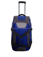 wholesale strong luggage/rolling duffel bag with aluminum retractable urban trolley for travel