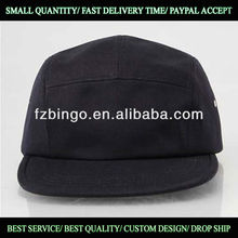 Cotton 5 panel 3D embroidery sports snapback hats supplier