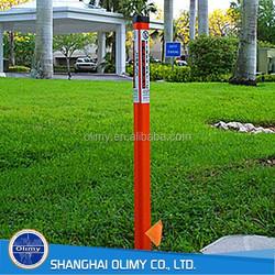 glass fiber lead post reinforced marker post SMC roadway post