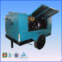 SYC10/7 twin movable brands of diesel engines portable cement trailer compressor