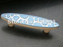 Porcelain sweet ocean blue speckle cartoon ceramic drawer handle
