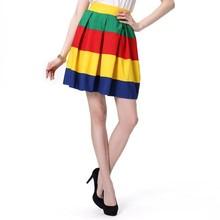 Summer Young Girl A Line Skirts Mix Color Summer Short Women Skirts