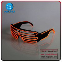 flashing el wire sunglasses, LED Shutter party glasses