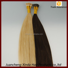China supplier double drawn top grade remy soft last longing hot fusion hair extension