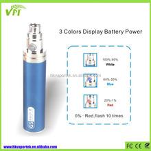 2015 ecig ego one battery 2200mah GS ego II, Power display ego vaporizer pen e cigarette wholesale China
