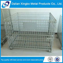 2015 steel warehouse storage cage with wheels champagne wire cage