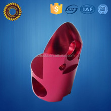 high quality aluminium block cnc machining with colorful anodized