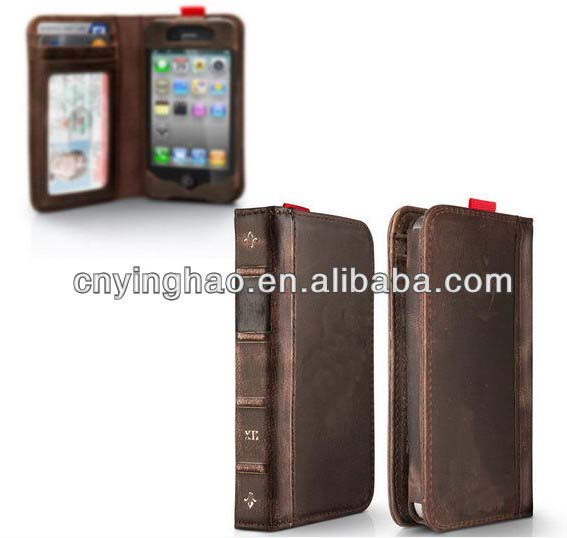 Top grade professional leather case bag for iphone 5