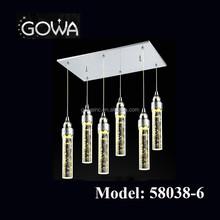 2015 Gowa classical european led k9 crystal hanging light/pendant lamp/chandelier