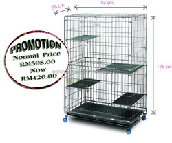 Ultra Foldable Premium Cat Cage (extra large) FSCC-4
