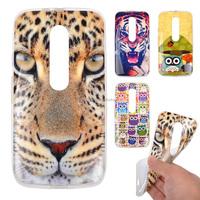 Animal Tiger printing soft tpu back case for moto g3