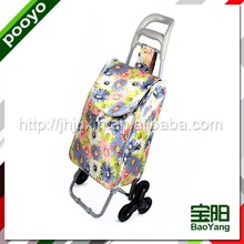folding shopping trolley bag with wheels 4 way gondola display shelf