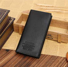 wholesale korean cheap pu leather wallet long