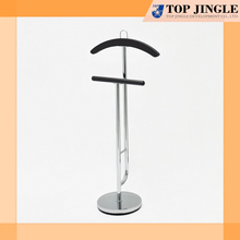 Elegant curve shape Round base 2 Tier free standing trousers rack