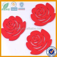 fashional die cut felt flower shapes