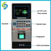 2015 New Design Security Biometric Time Attendance System Fingerprint +Password 3000 Users