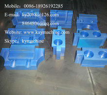 Blue nylon MC machined plastic parts by material cutting milling for medical equipment