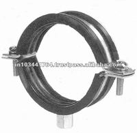 rubber lined split pipe clamp