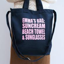 High quality recycled canvas beach tote bag, custom print canvas tote bag