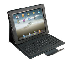 CE FCC RoHS For ipad 4 for ipad 3 bluetooth keyboard leather case BK-18