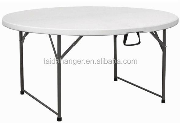 6ft table ronde table pliante en plastique pour pour - Table de jardin pliante plastique ...