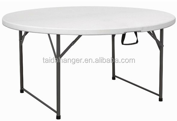 6ft mesa redonda, Mesa plegable de plástico para fines del banquete ...