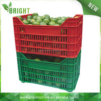 2015 hot sale 30kg plastic vegetable crates, moving box, heavy duty plastic crates