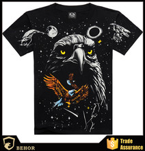 3 d printing cotton T-shirt men's T-shirt The eagle animal motifs Can customize according to the drawings