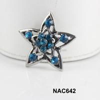 China alibaba women wholesale star rhinestone snap charm accessory free sample NAC642