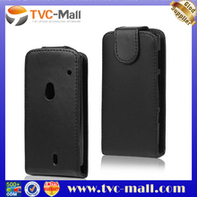 Black Vertical Magnetic Flip Leather Case for Sony Ericsson XPERIA Neo MT15i