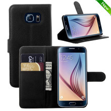 Factory price mobile phone leather case for samsung galaxy s6 case