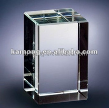 Optical glass classics clear K9 glass block crystal with over 10 years production experience