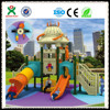 QIXIN hot sales products used commercial UFO style child fun plastic playground slide equipment(QX- 038B)