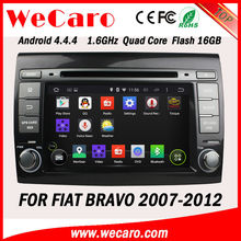 Wecaro Android 4.4.4 Touch Screen navigation system for fiat bravo 2 din 7 inch car dvd player 2007 2008 2009 2010 2011 2012