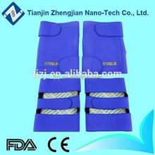 Tourmaline factory price nano tech blue heated knee warmer