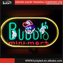 LUCKY hot sale neon open sign / advertising platic neon sign