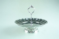 Metal cake plate stand / stainless steel cake stand platter mini cake stand