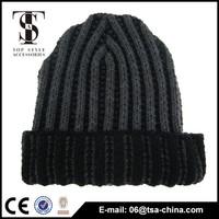 Custom Patch Cap Long Acrylic Beanie Knit Winter Hat