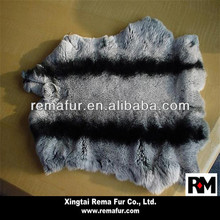 Tanned Factory Selling Chinchilla Color Rex Rabbit Skin