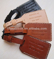 Rectangle handmade new design personalized pu leather & metal wedding luggage name tag with custom logo for gift items