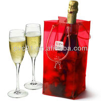 Customeized Plastic ice cooler Bags Coloful PVC ice cooler Hnadle Bag Clear Plastic Handle Bags for ice cooler