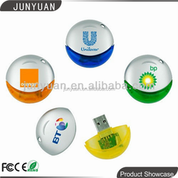Colorful Oval Shaped usb Plastic Thumb USB Flash Drive