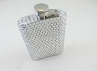 45 colors Mix wholesale Fashion 100% handmade diamante flask cute hip flask