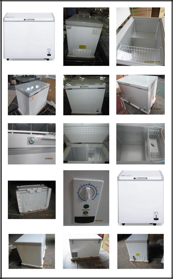 Single Solid Top door chest Freezer with lock key and CE 167L