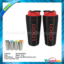 Wenshan 800ML Personalized Protein Stainless Steel Shaker Bottle