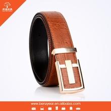 Alibaba China Factory Wholesale Flat Buckle Leather Wasit Belts