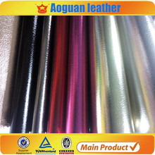 2016 pu leather material & pu metal leather and coated backing in guangzhou factory
