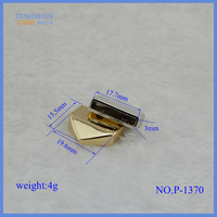 High quanlity metal fittings for bags zinc alloy end cord for purse hardware accessories
