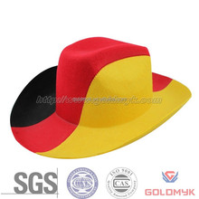 100% wool felt mens brim hat cowboy hats
