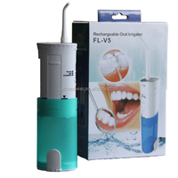 Dental water jet with pump frequency 1,600/Min for mouth freshener fresh mint leaves
